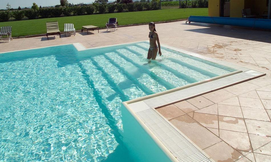 vasca rettangolare scala : Piscine Rimini di Progetto Verde & Co. progetta installa e vende ...