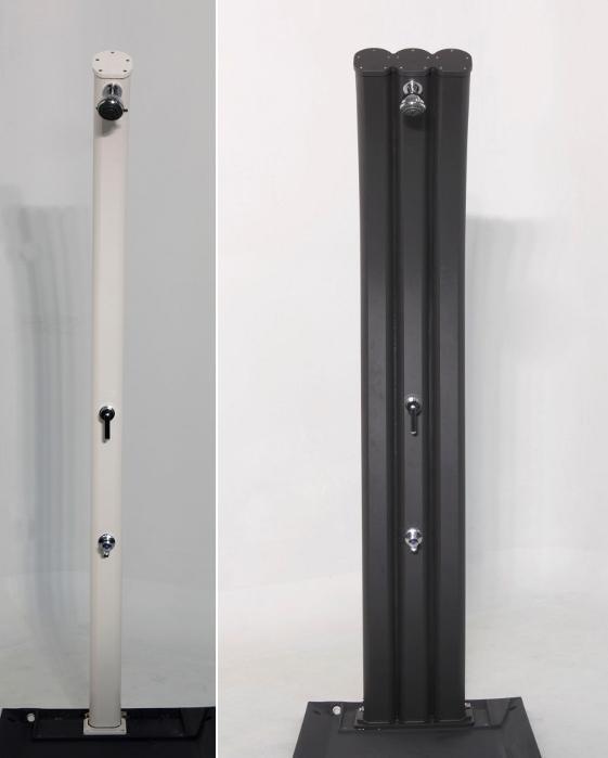 doccia solare in alluminio